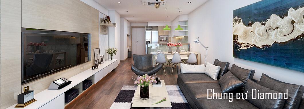Thiết kế nội thất chung cư cao cấp Diamon Flower Tower - Anh Tuyển