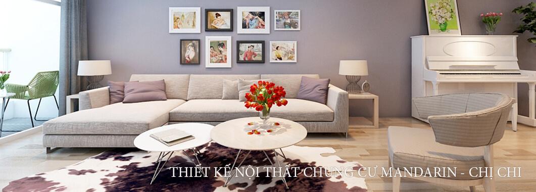 Trang trí nội thất chung cư Mandarin Garden hiện đại