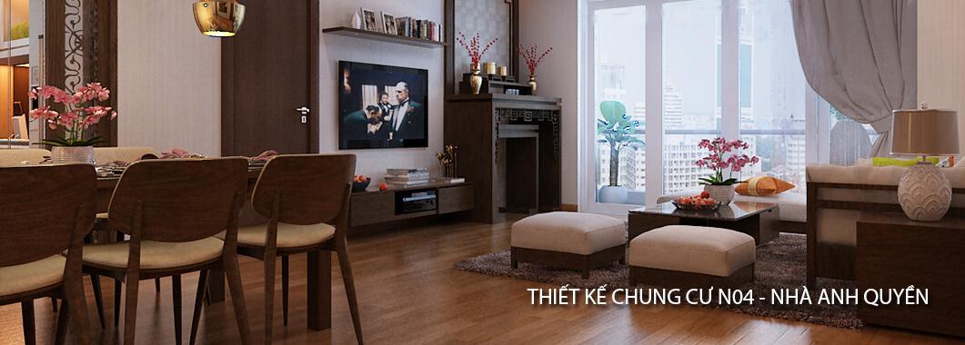 imgThiết kế nội thất chung cư hiện đại N04 - nhà Anh Quyền