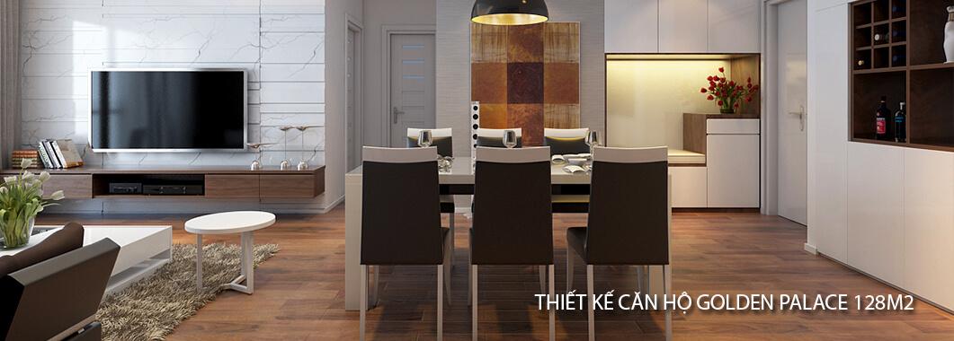 imgThiết kế chung cư hiện đại Golden Palace 128 m2