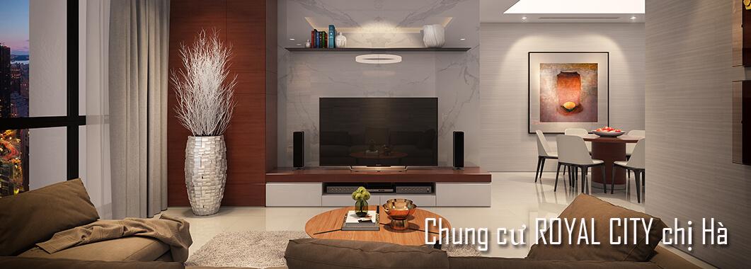 Trang trí nội thất chung cư Royal City - Chị Hà