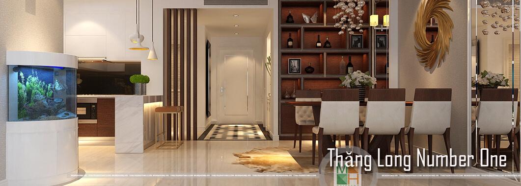 Thiết kế nội thất căn hộ Thăng Long Number One Cao Cấp