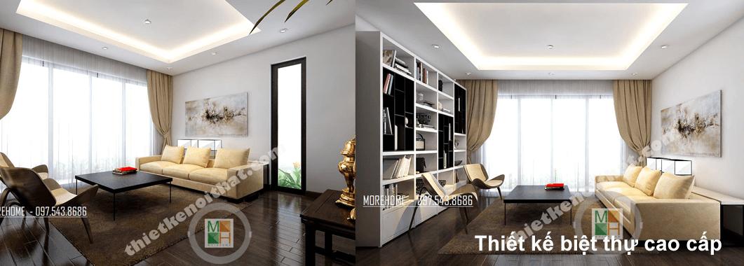 Thiết kế nội thất biệt thự hiện đại tại Tp Vinh Nghệ An