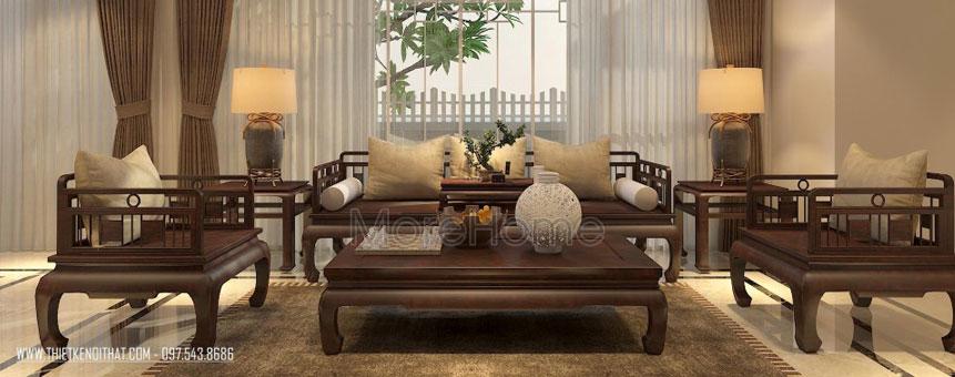 imgThiết kế nội thất gỗ Việt Á Đông tại biệt thự Vinhomes Thăng Long