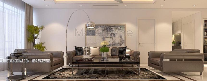 Thiết kế chung cư cao cấp Thăng Long Number One phong cách hiện đại sang trọng - Chị Nhung