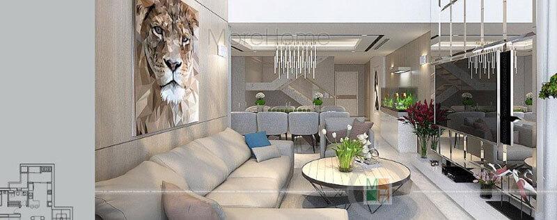 Thiết kế căn hộ Duplex Mulberry Lane nổi bật với phong cách hiện đại sang trọng