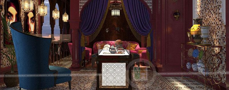 Thiết kế nội thất showroom Saffron chuyên thảo dược quý cho sức khỏe và làm đẹp từ Iran