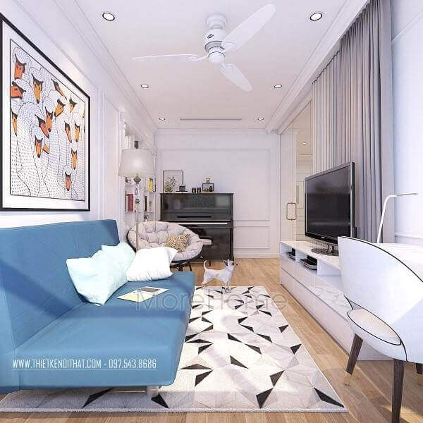 Interior design of living room of Times City apartment