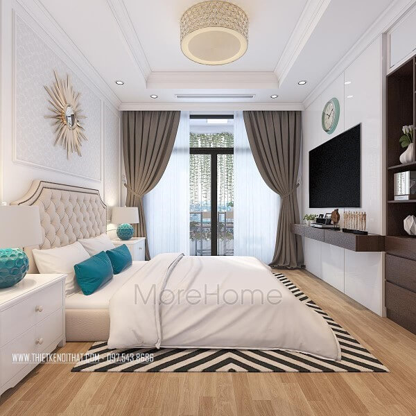 Interior design of Times City bedroom apartment
