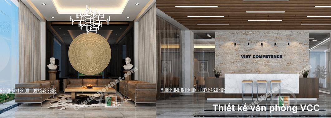 Thiết kế nội thất văn phòng VCC