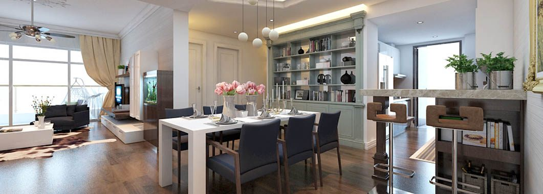 Thiết kế nội thất chung cư Mandarin Tòa A1505