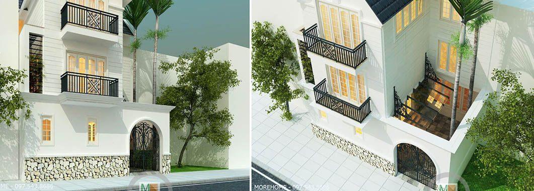 Thiết kế kiến trúc biệt thự Việt Hưng - Mrs. Việt