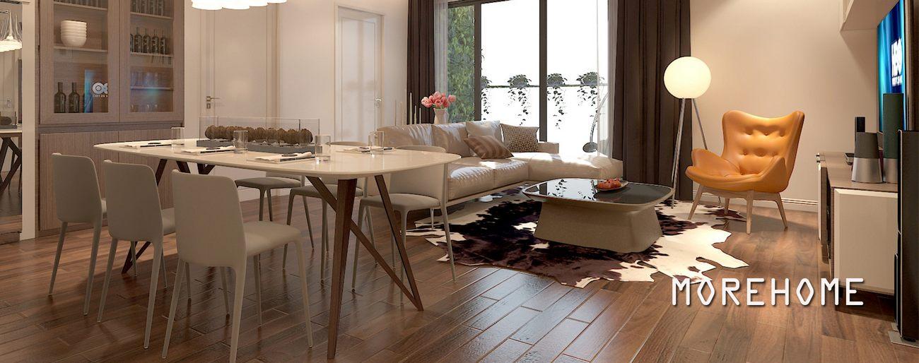 Thiết kế chung cư nội thất nhà hiện đại đẹp căn hộ Imperia Garden - Anh Tuấn