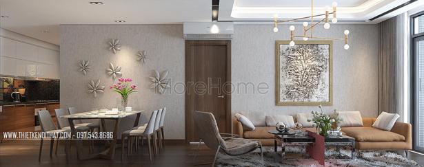 Thiết kế nội thất chung cư căn hộ 136 Hồ Tùng Mậu đẹp hiện đại - Anh Linh