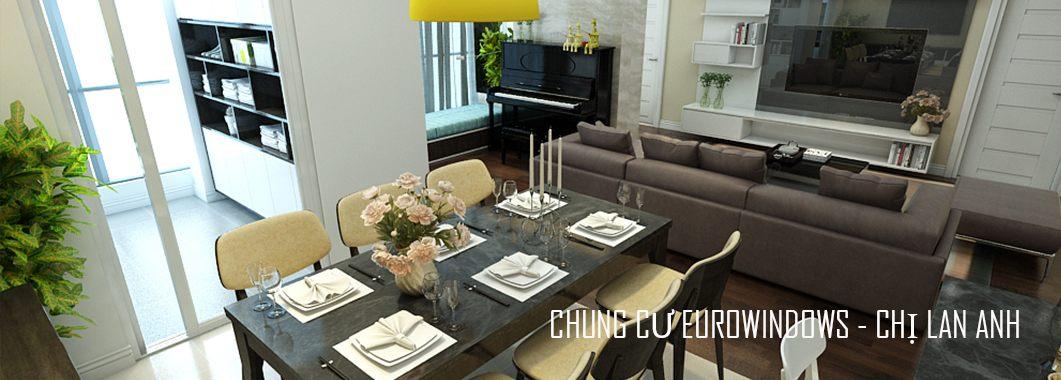 Thiết kế nội thất chung cư EuroWindow Nguyễn Chí Thanh - Nhà chị Lan Anh