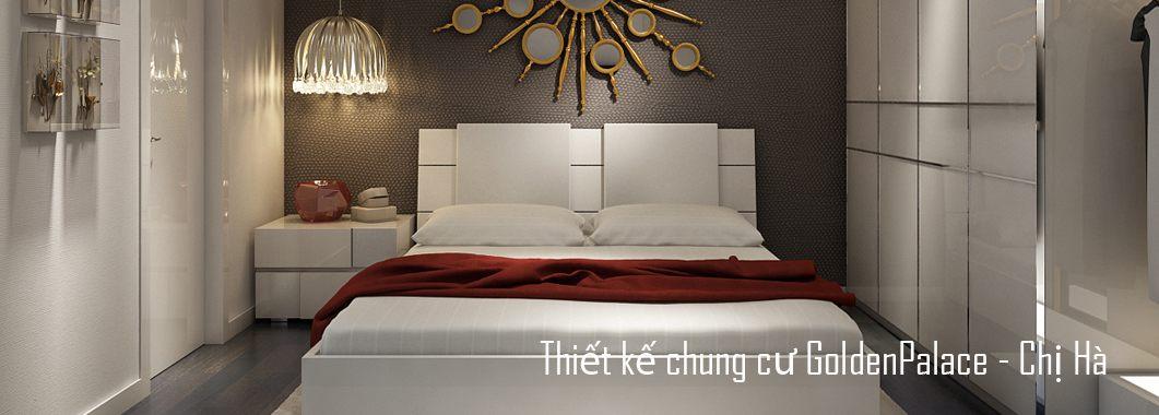 Thiết kế nội thất căn hộ chung cư Golden Palace Mễ Trì - Chị Hà