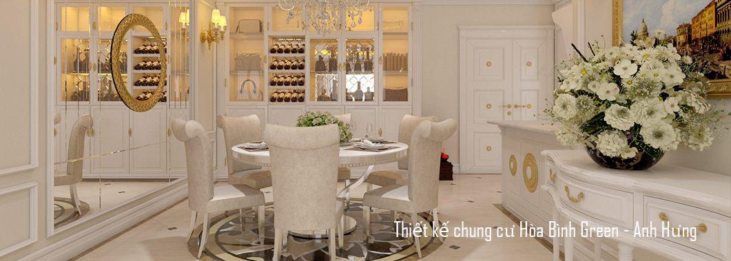 Thiết kế nội thất chung cư cao cấp tại Hòa Bình Green - Anh Hưng