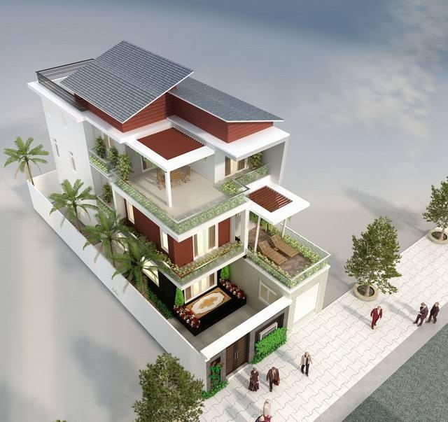 Ngắm nhìn các mẫu biệt thự 3 tầng hiện đại 1