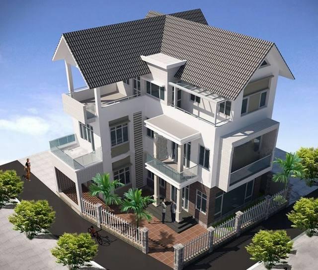 Ngắm nhìn các mẫu biệt thự 3 tầng hiện đại 3
