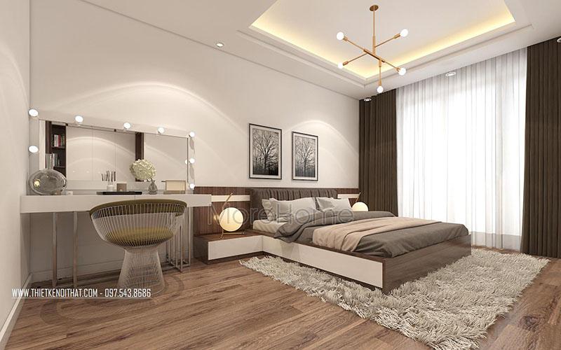 Trang trí phòng ngủ trong thiết kế biệt thự tân cổ điển