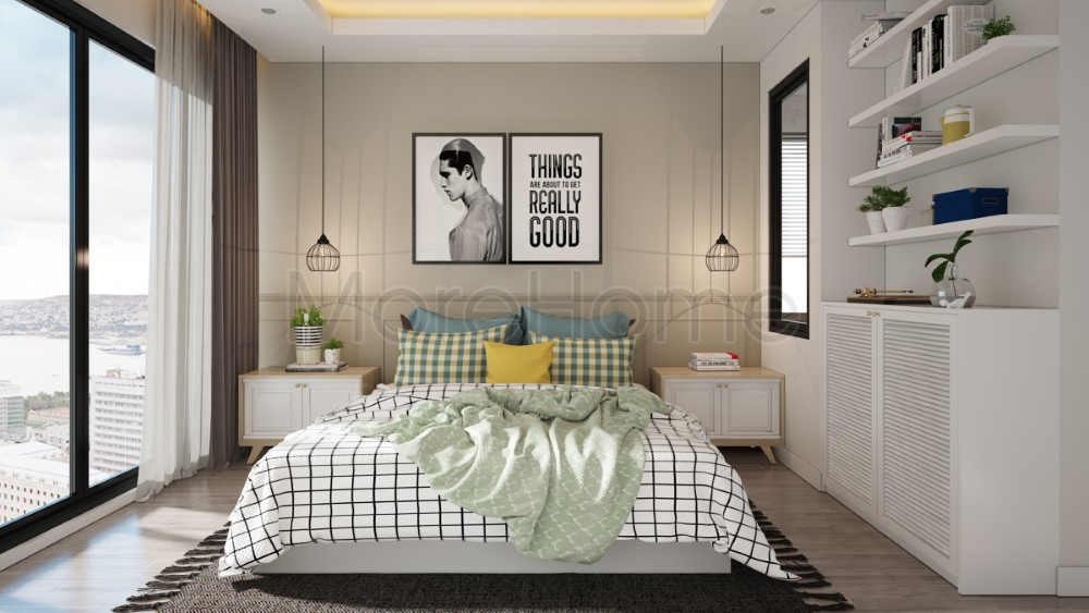 15 Suggestions for interior design of small bedrooms from 5m2 to 30m2