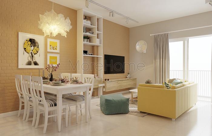 thiết kế nội thất căn hộ chung cư hiện đại