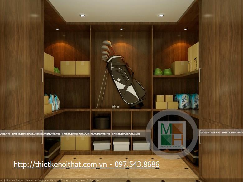Thiết kế nội thất biệt thự tân cổ điển Vincom Village - Hoa Sữa HS0525